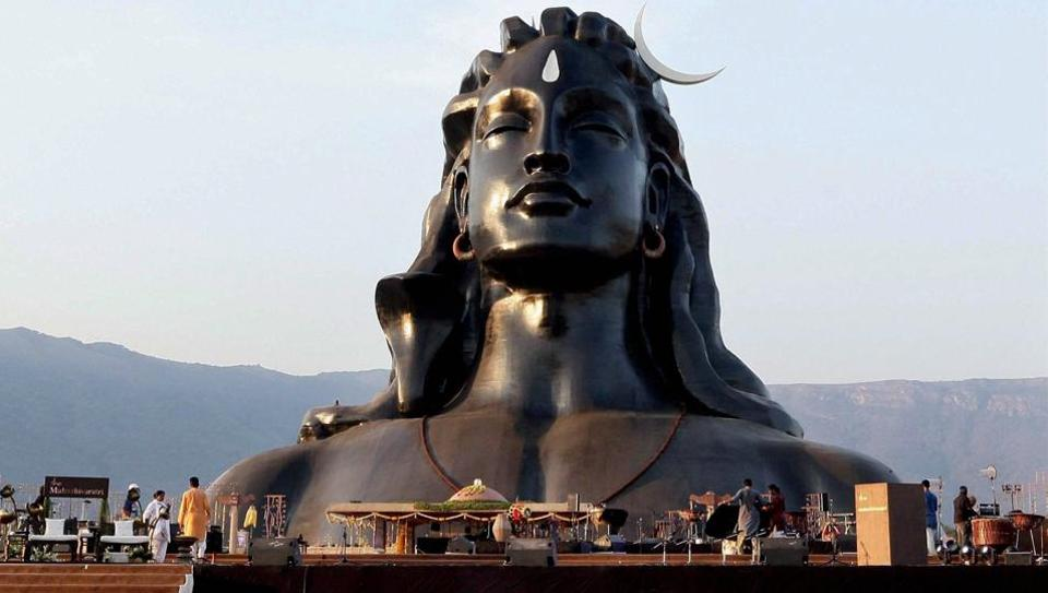 The 112-feet statue of Adiyogi Lord Shiva that was unveiled by Prime Minister Narendra Modi at Isha Foundation in Coimbatore on the occasion of Maha Shivratri on February 24, 2017.