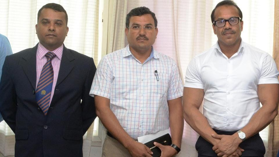 (Left to Right) Bhaskar Bhattacharya of Pune CRO Office, PMC disaster management officer Ganesh Sonune and Pune muncipal commissioner Kunal Kumar are part of the panel.