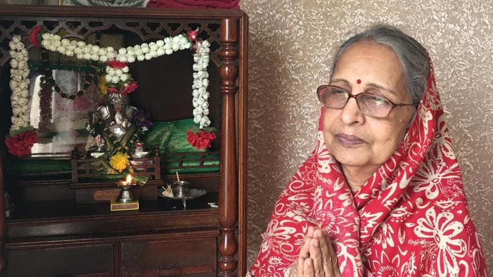 Sarla Mehta has been worshipping the metal Ganesh idol in her home for four decades.