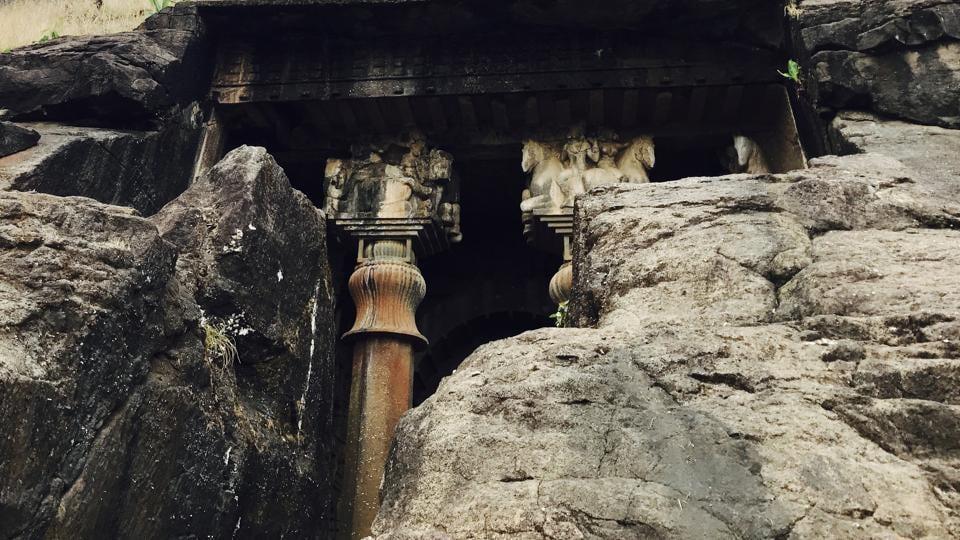 Buddhist cave,architecture,pune
