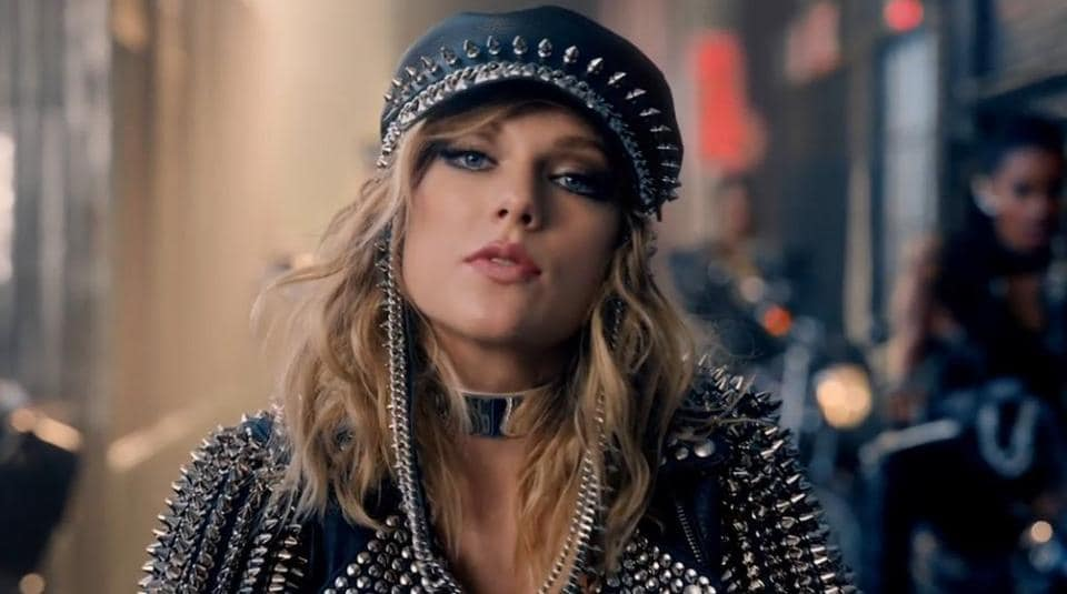 Taylor Swift in a still from the video.
