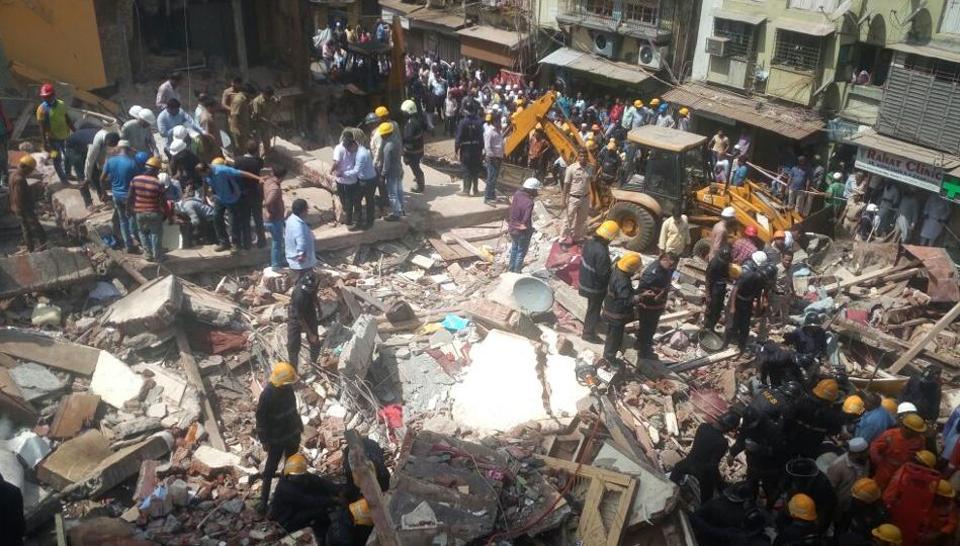 Mumbai,Mumbai building collapse,Bhendi Bazar