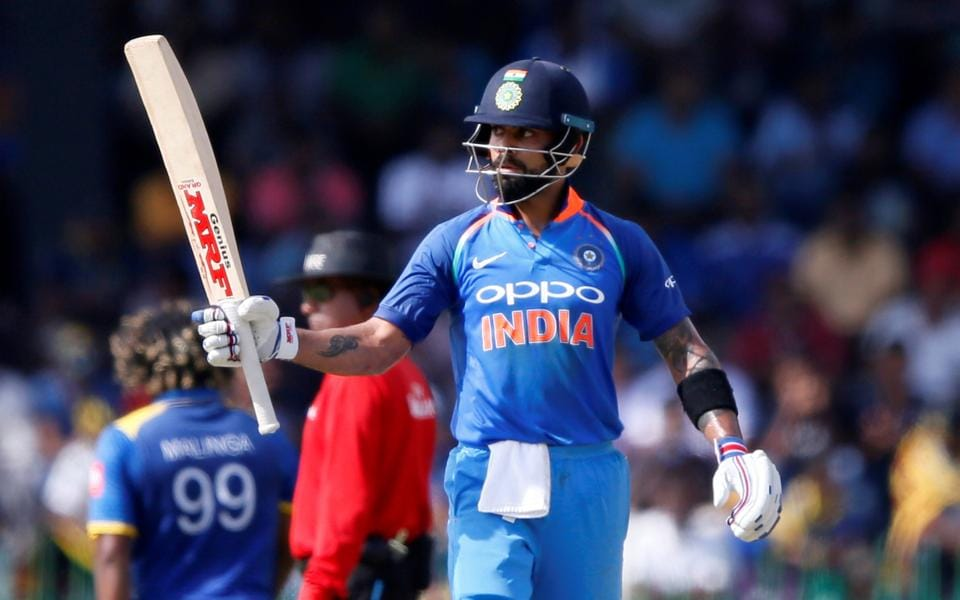 Kohli raced to his 29th ODI century and 7th against Sri Lanka.  (REUTERS)