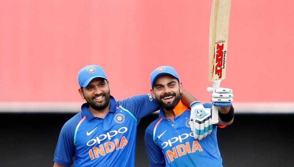 Virat Kohli and Rohit Sharma slammed centuries as India crushed Sri Lanka by 168 runs to go 4-0 up in the five-match series.  (REUTERS)