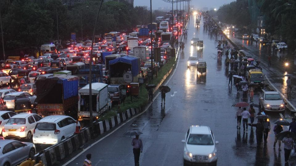 Extremely heavy rain brought the city to a standstill on Tuesday.