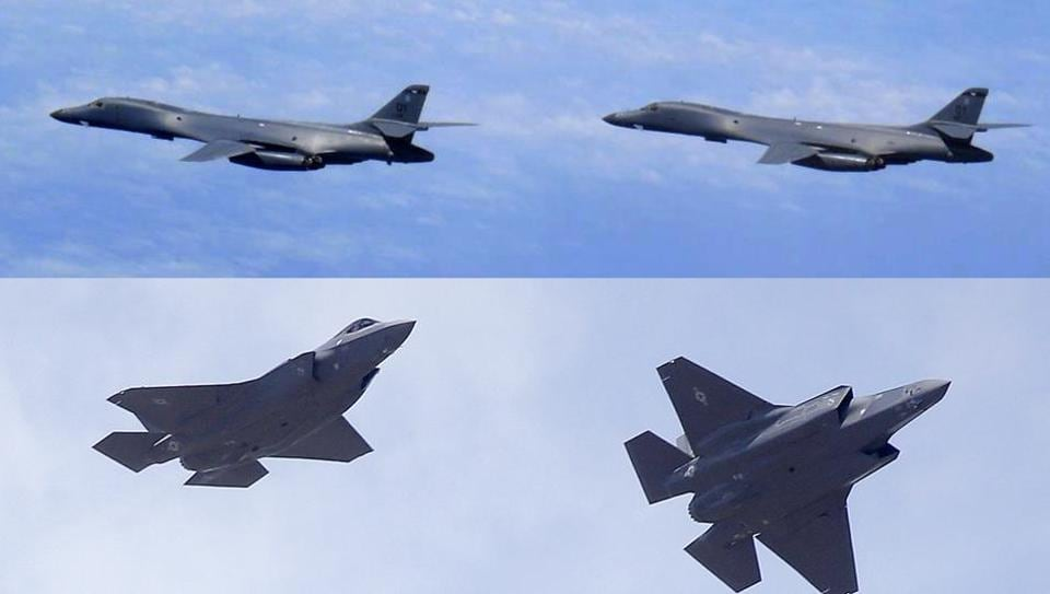 US bombers,B1B lancer bombers,North Korea