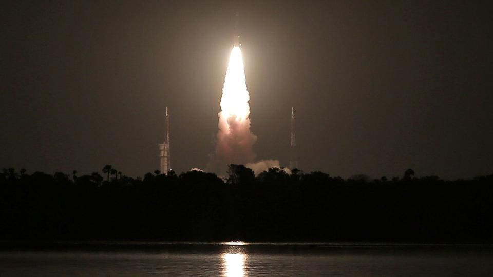 India's Polar Satellite Launch Vehicle (PSLV) C-39, carrying IRNSS-1H navigation satellite, lifts off from the Satish Dhawan Space Centre in Sriharikota, on August 31, 2017.