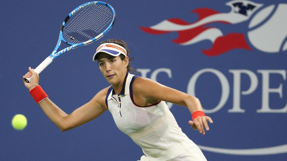 Garbine Muguruza reached the US Open third round for the first time after defeating Ying-Ying Duan.  (USA Today Sports)