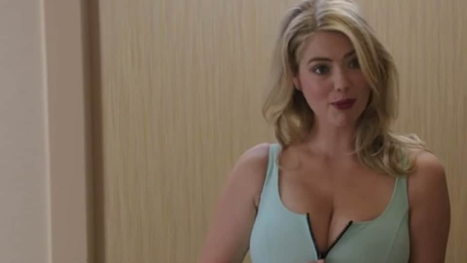 Kate Upton in a scene from The Layover.