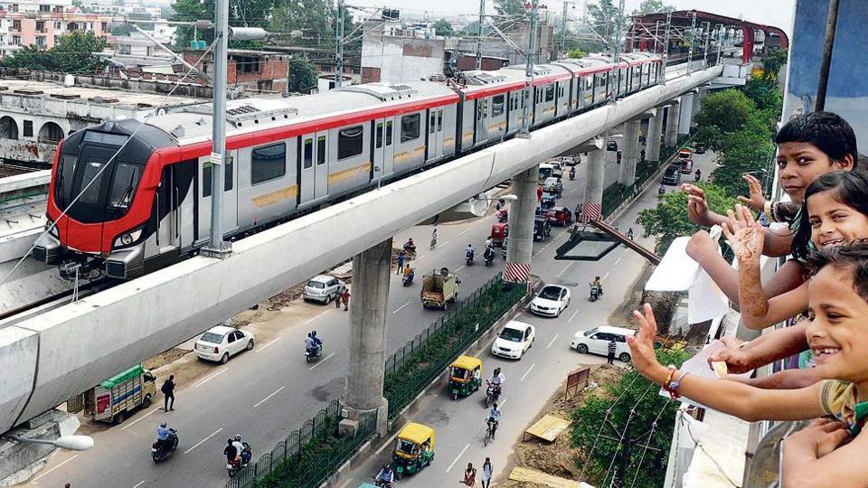 Lucknow metro,LMRC,Green system