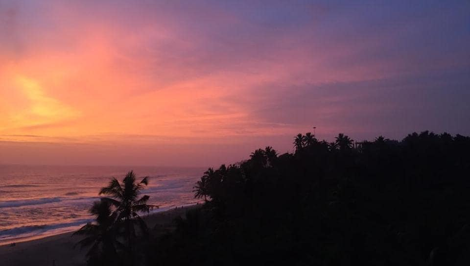 The view from Varkala cliffs.