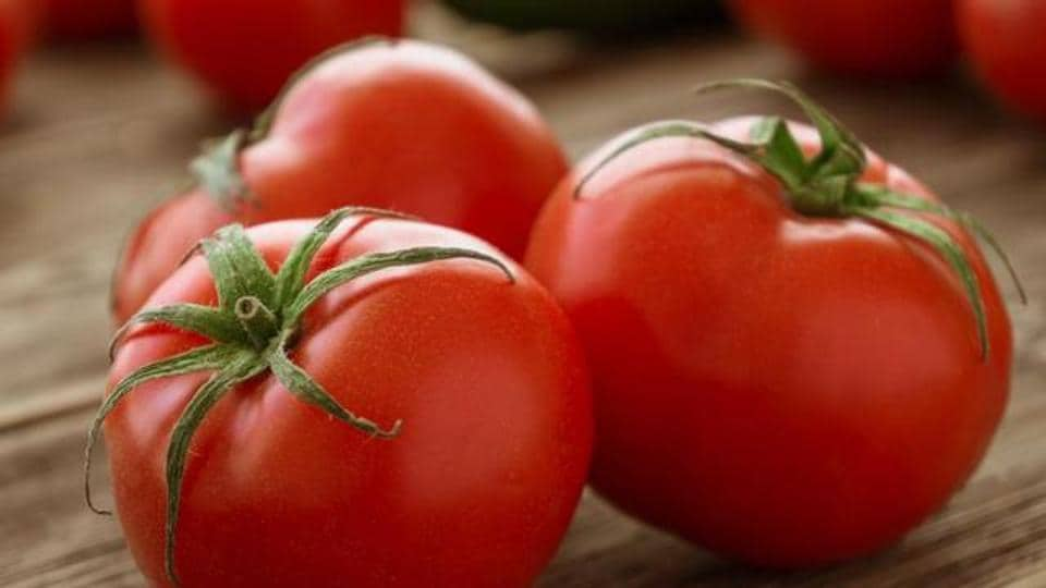 Tomatoes are a great source of Vitamin C.