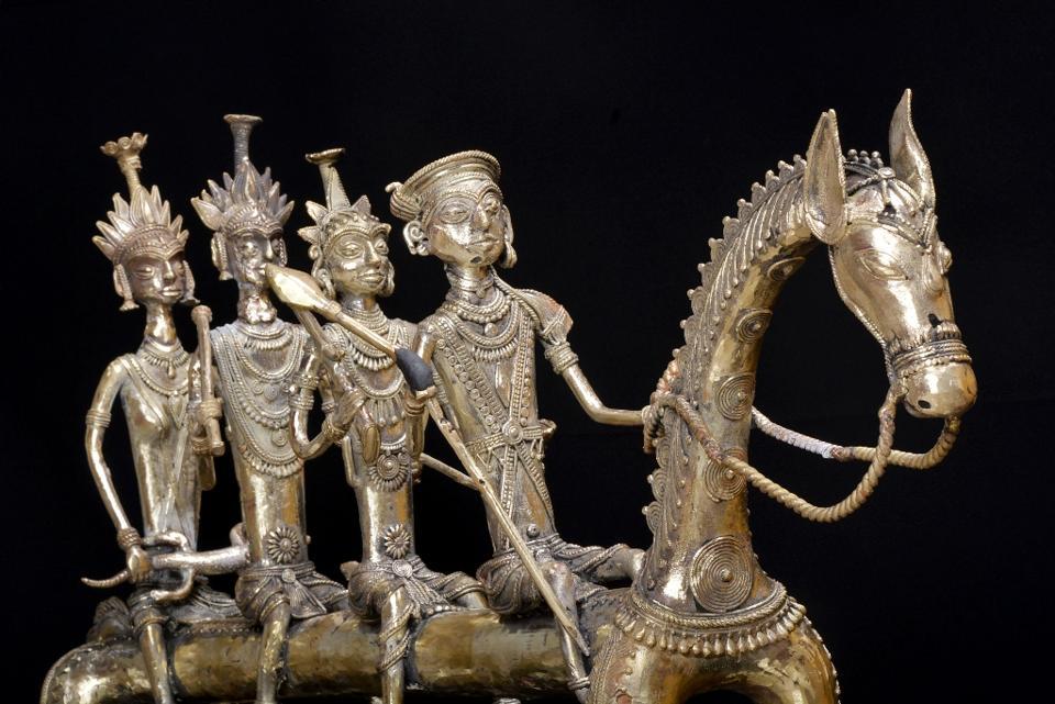 A brass bronze alloy by Suresh Waghmare Shikaar.