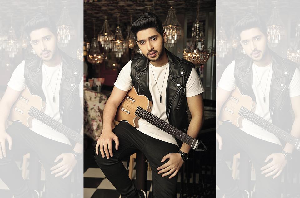 Armaan wears a jacket, T-shirt and trousers from Zara