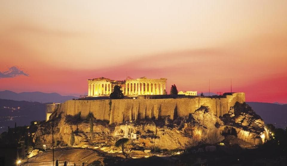 The Parthenon was built in 438-432 BC to replace an older temple to Athena, destroyed by the Persians