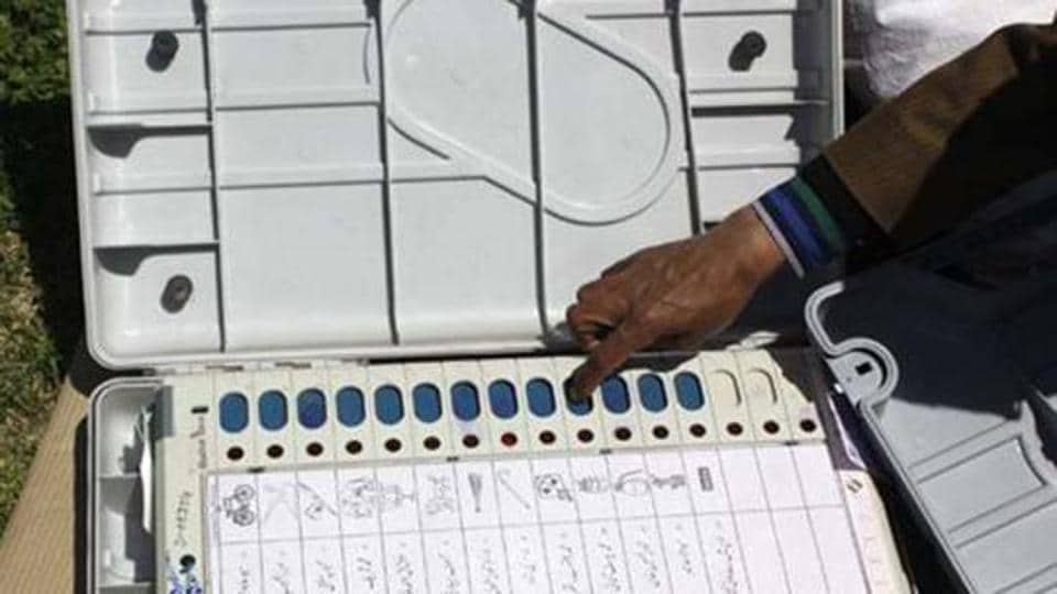 Electronic voting machines being used in general and state elections.