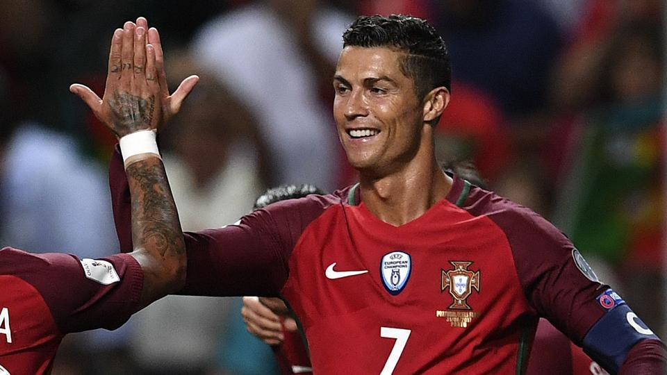 Cristiano Ronaldo, who is currently serving a five-match ban in Spain for Real Madrid C.F., scored a hat-trick as Portugal thrashed Faroe Islands 5-1 in the World Cup qualifying match.