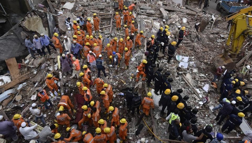 Rescue operations unfolding at the site.