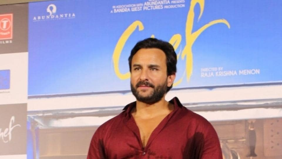 Saif Ali Khan during the trailer launch of Chef in Mumbai.