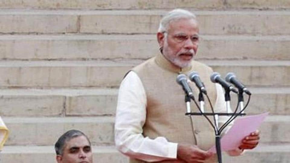 Prime Minister Narendra Modi will reshuffle his cabinet on Sunday. (HTfile photo)