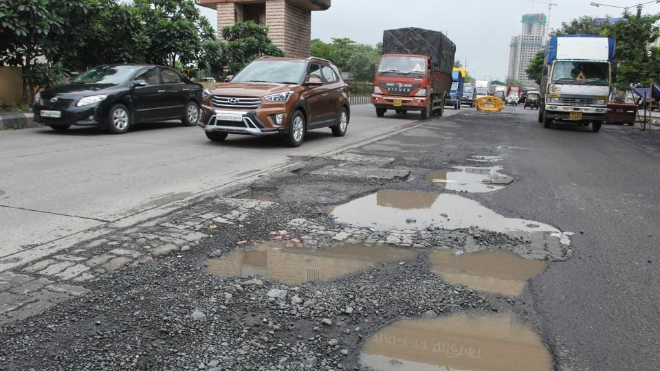 Several roads developed potholes and according to citizens more roads were pockmared as the city recovered from Tuesday's breakdown.