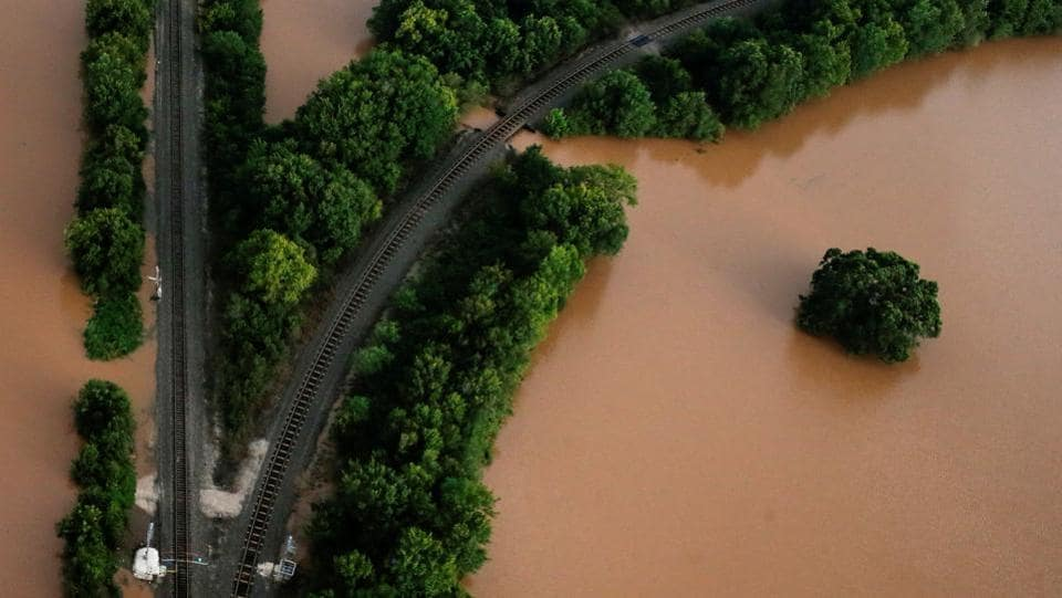 At least 44 people were feared dead in six counties including and around Houston, officials said with another 19 still missing. According to county officials 70% of Harris County  which encompasses Houston was covered with 18 inches of water. (Adrees Latif  / REUTERS)