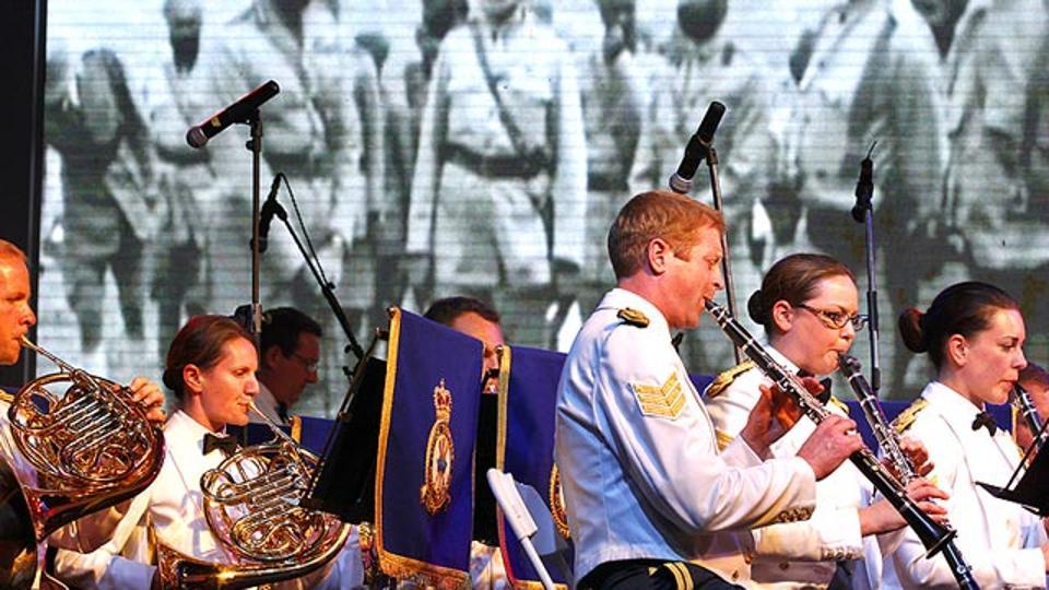 The Royal Air Force Band performing during the First World War Centenary Commemoration at British High Commissioner residence in New Delhi. Now, women can applyto join the Britain's Royal Air Force Regiment, its ground-fighting force.
