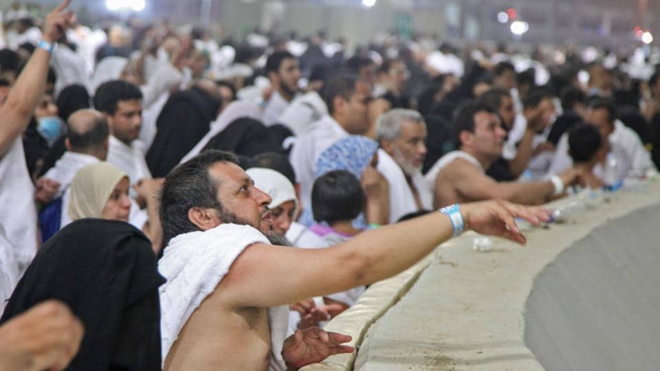 Muslim pilgrims partake in the symbolic stoning of the devil at the Jamarat Bridge in Mina, near Mecca, which marks the final major rite of the hajj on September 1.