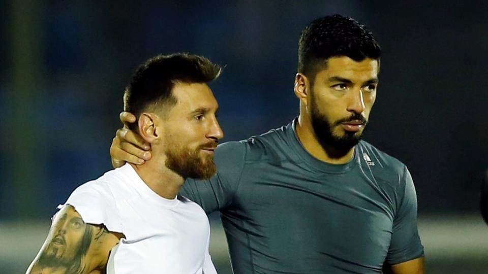 Lionel Messi and Luis Suarez, who are team mates at FC Barcelona, could not inspire their respective teams Argentina and Uruguay respectively as both teams played out a draw in the World Cup qualifying games.