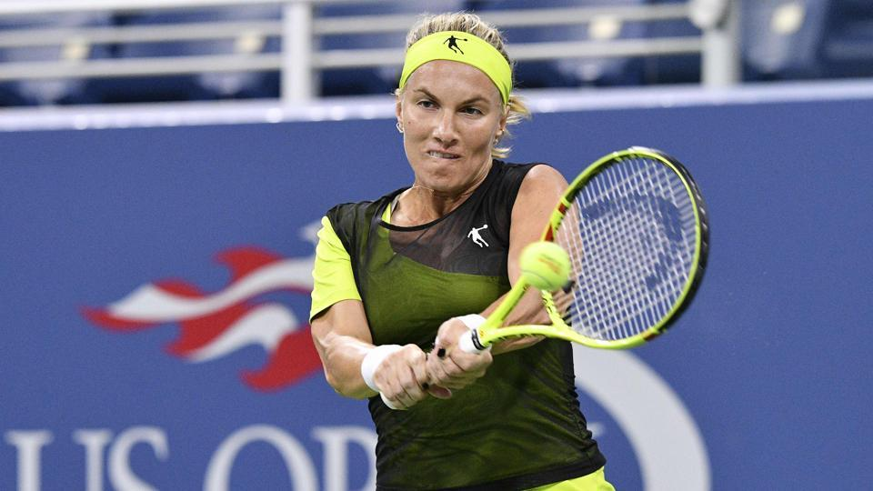 Russia's Svetlana Kuznetsova became the fifth player in the top-10 to crash out of US Open. (AFP)