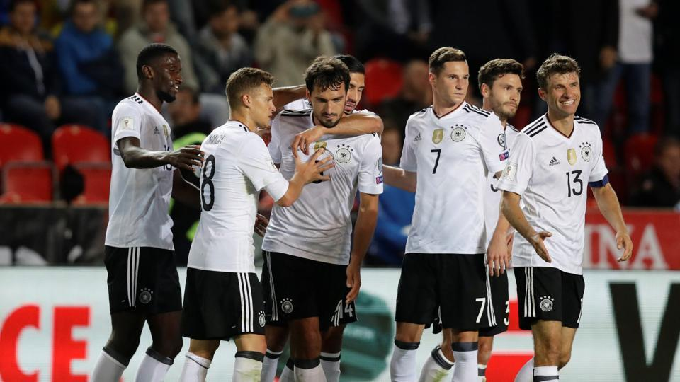 Germany secured a 2-1 win over Czech Republic as they edged closer to sealing their spot in the FIFAWorld Cup 2018 in Russia.