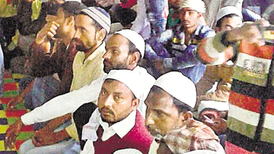 Muslims offer prayers at a gurudwara in Uttarakhand's Joshimath.