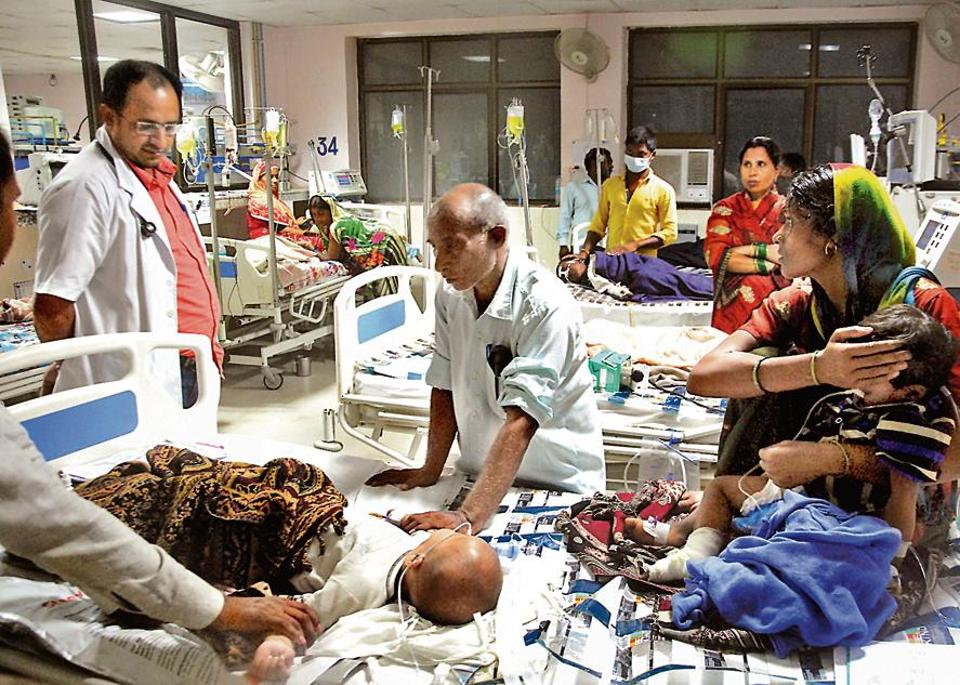 Overcrowding leads to two and even three children sharing beds and even incubators at BRD hospital, raising cross-infection risk.