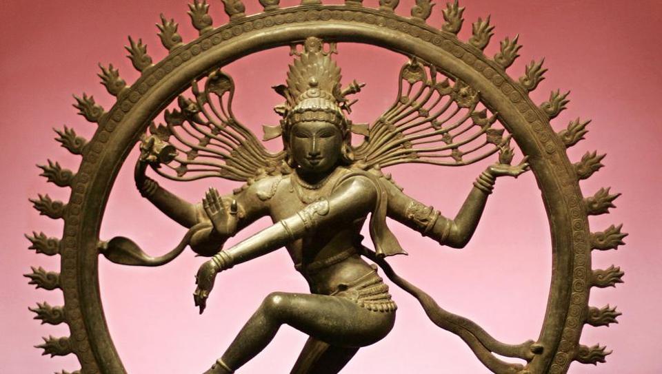 An eleventh century Chola bronze of Nataraja.
