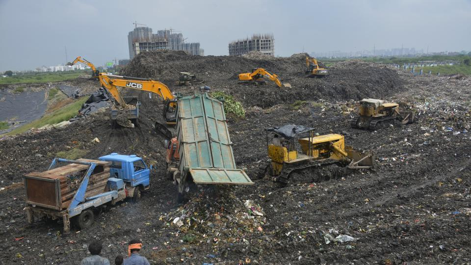 As Delhi officials battle to find a solution to the overflowing Ghazipur landfill site, Ghaziabad faces similar issues.