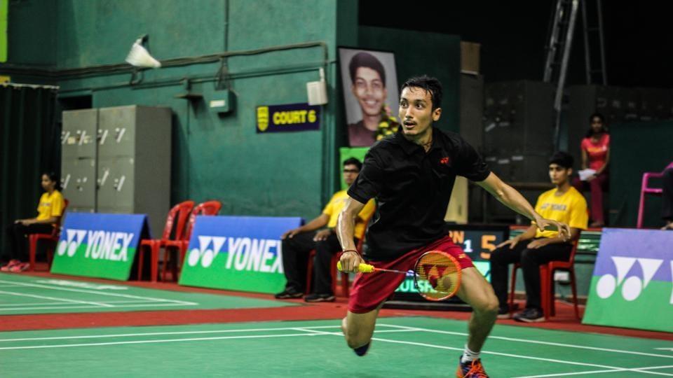 Gulshan Kumar Kartikey of India in action against Thailand's Vitidsarn Kunlavut in Pune on Saturday.