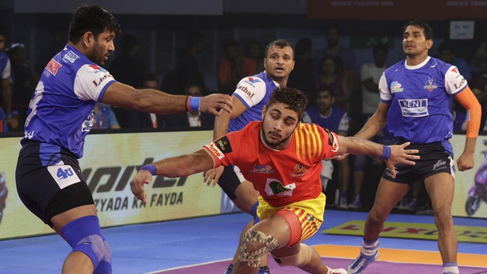 Gujarat Fortunegiants' winning run ended with a narrow defeat to Haryana Steelers in Pro Kabaddi League on Saturday.