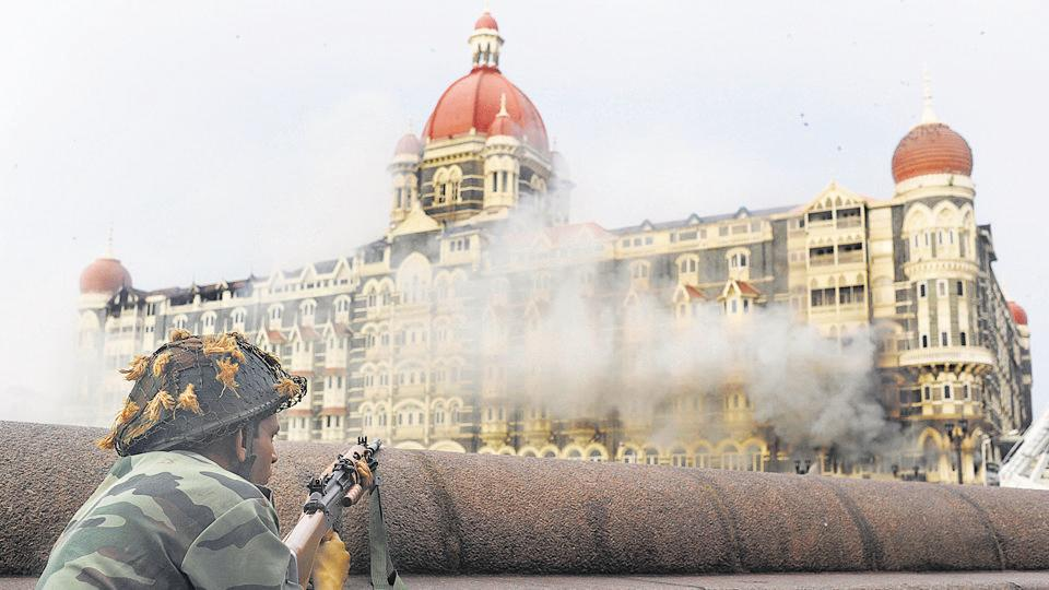 The Taj Mahal Hotel in Mumbai on November 29, 2008 during the terrorist attacks.