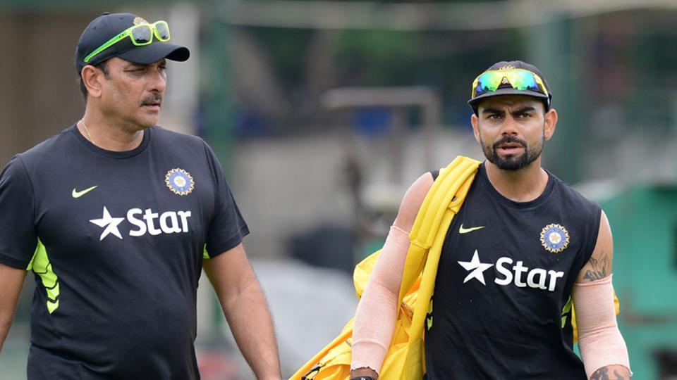 Ravi Shastri, Indian cricket team's head coach, shares a good rapport with Virat Kohli.
