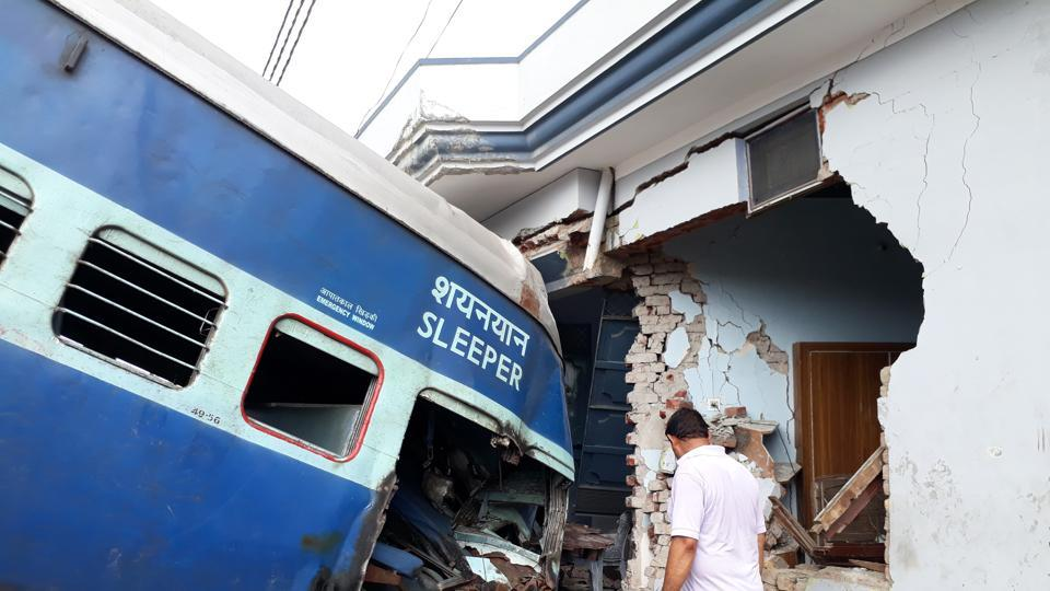 Coaches of the Puri-Haridwar Utkal Express after it derailed and ran into a house near Muzaffarnagar, August 20, 2017. What most people mean by private entry is the private sector running trains. On this, will we contemplate locomotive drivers from the private sector and safety (not to be confused with security) handled by the private sector?