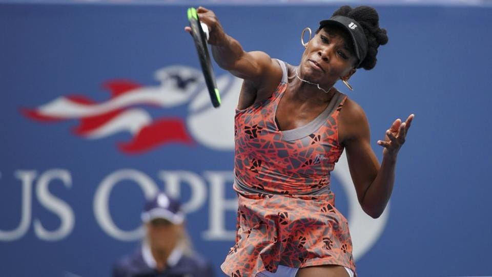 Venus Williams was at her dominant best as she crushed Maria Sakkari of Greece 6-3, 6-4. (NYT)