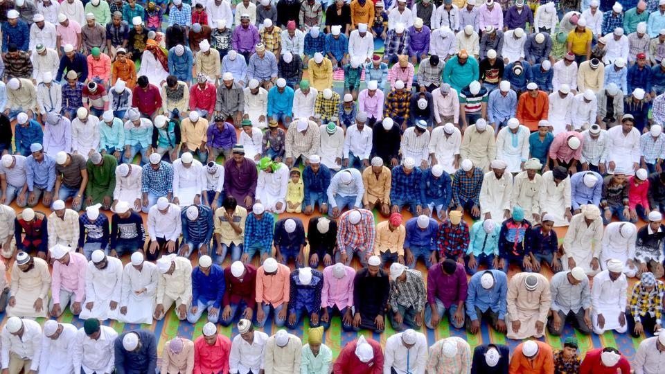 Id-ul-Zuha or Eid-al-Adha, also known as the sacrifice feast or Bakr-Id, is the second of the two Muslim holidays celebrated worldwide each year.  (Sameer Sehgal/HT )