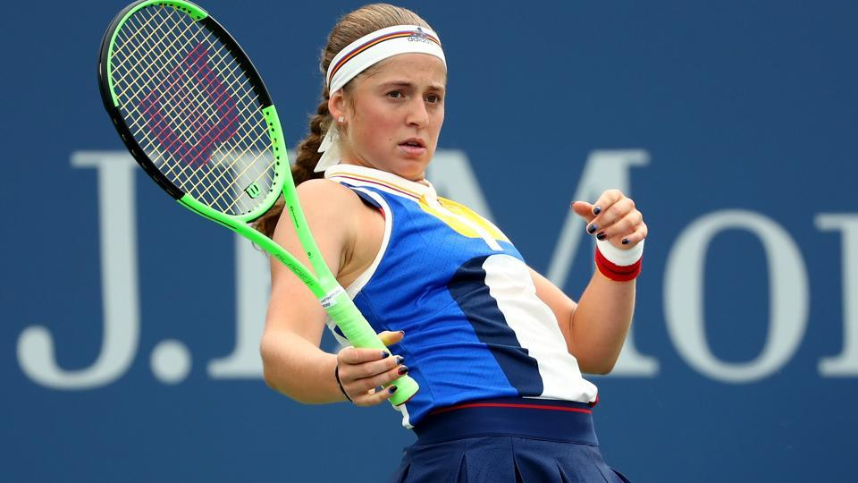 Jelena Ostapenko was defeated by  Daria Kasatkina in their third round encounter. (AFP)