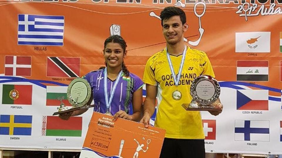 Kuhoo Garg (L) and Rohan Kapoor won the mixed doubles title at Hellas Open in Livadia on Sunday.