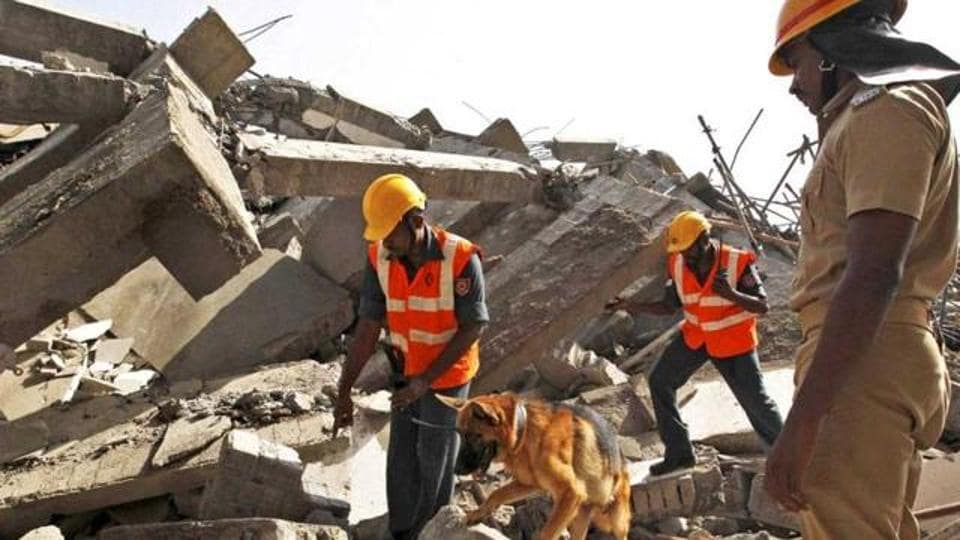 Around 20 rescuers along with earth moving machines were pressed into service and the removal of the rubble was almost over by late afternoon.