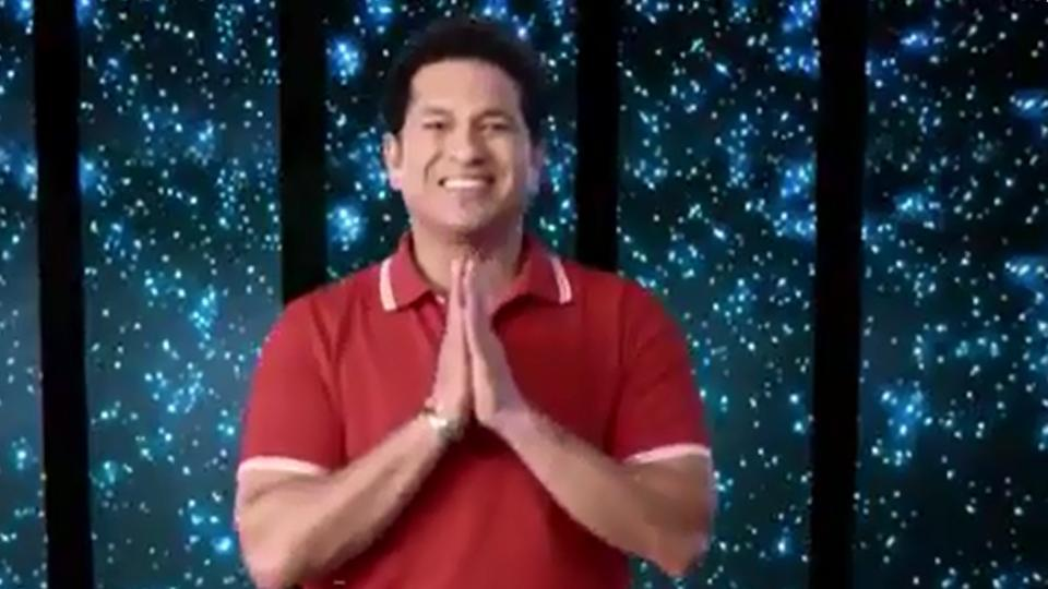Sachin Tendulkar is seen folding his hands for a namaste towards the end of the promo song for the 2017 FIFA U-17 World Cup.