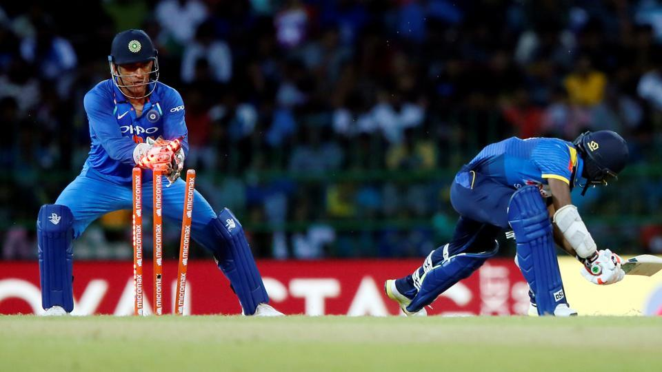 MSDhoni became the first wicketkeeper in ODI history to effect 100 stumpings during the fifth and final match between India vs Sri Lanka in Colombo