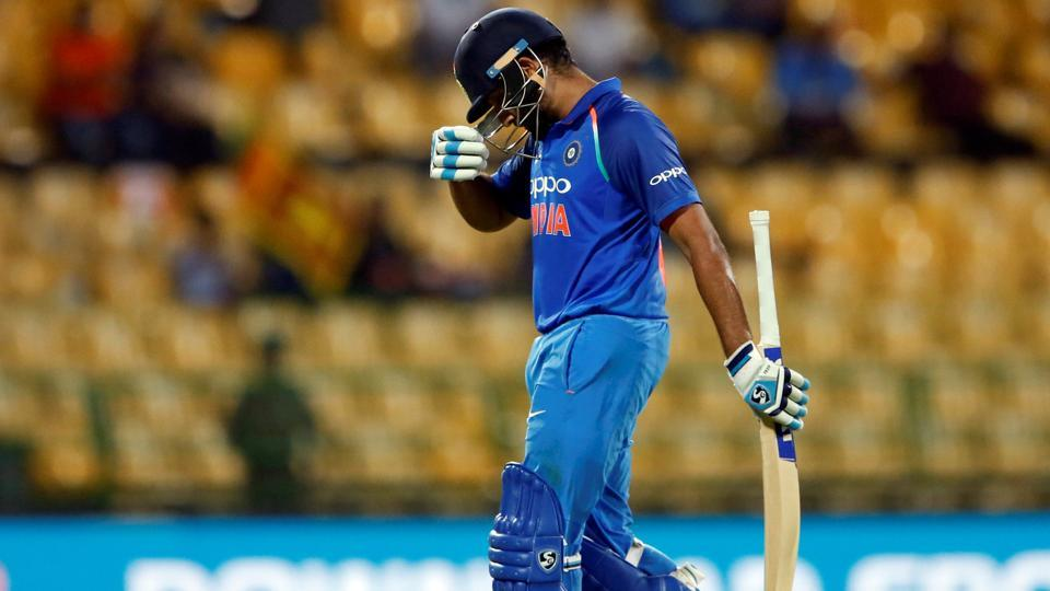India started the chase poorly, as both Rohit Sharma and Ajinkya Rahane were dismissed cheaply.  (REUTERS)