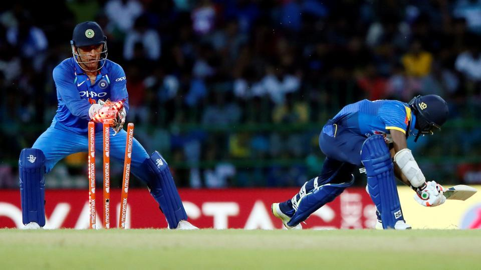 MS Dhoni also became the first wicketkeeper to 100 stumpings in ODI cricket.  (REUTERS)