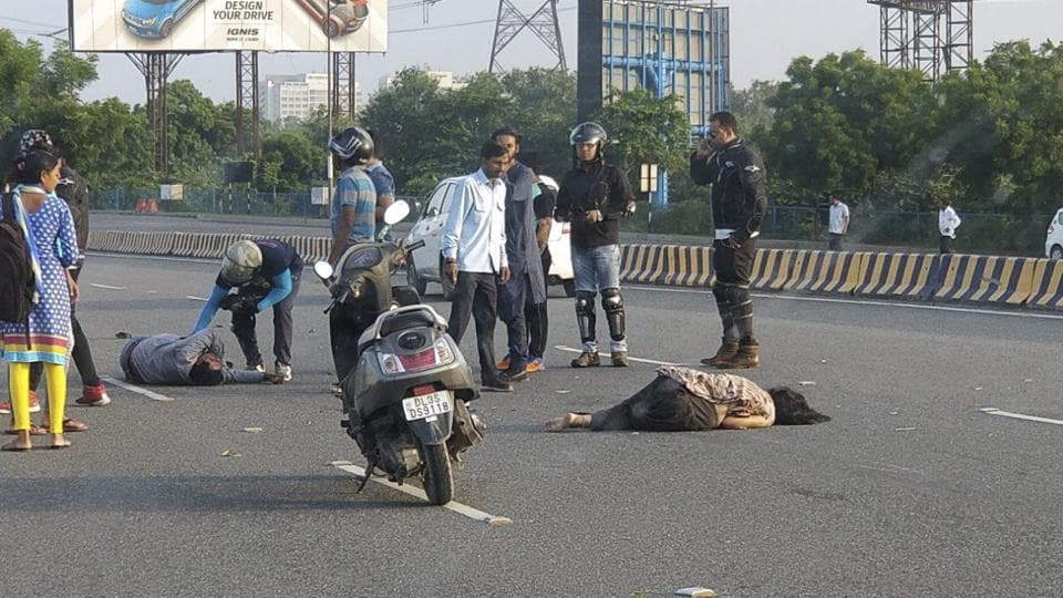 Noida,DND Flyway,accident